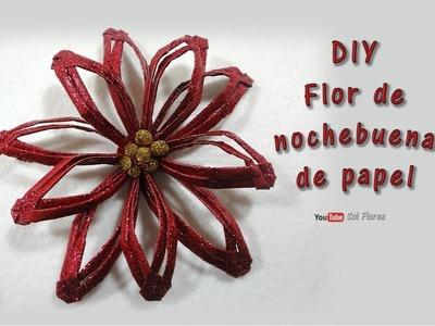 DIY Flor de nochebuena de papel - DIY Paper poinsettia flower