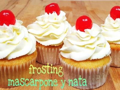 Frosting de queso mascarpone y nata | Mi tarta preferida