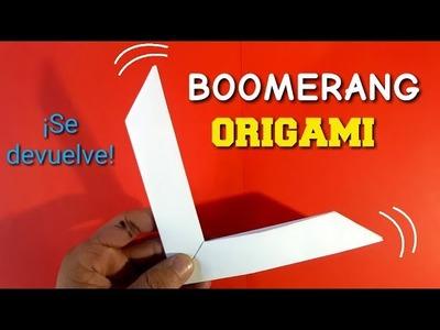 How to Make an Origami Boomerang - Como hacer un Boomerang de papel origami