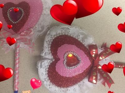 Manualidades para el dia de San Valentin (Boligrafo Corazon.)
