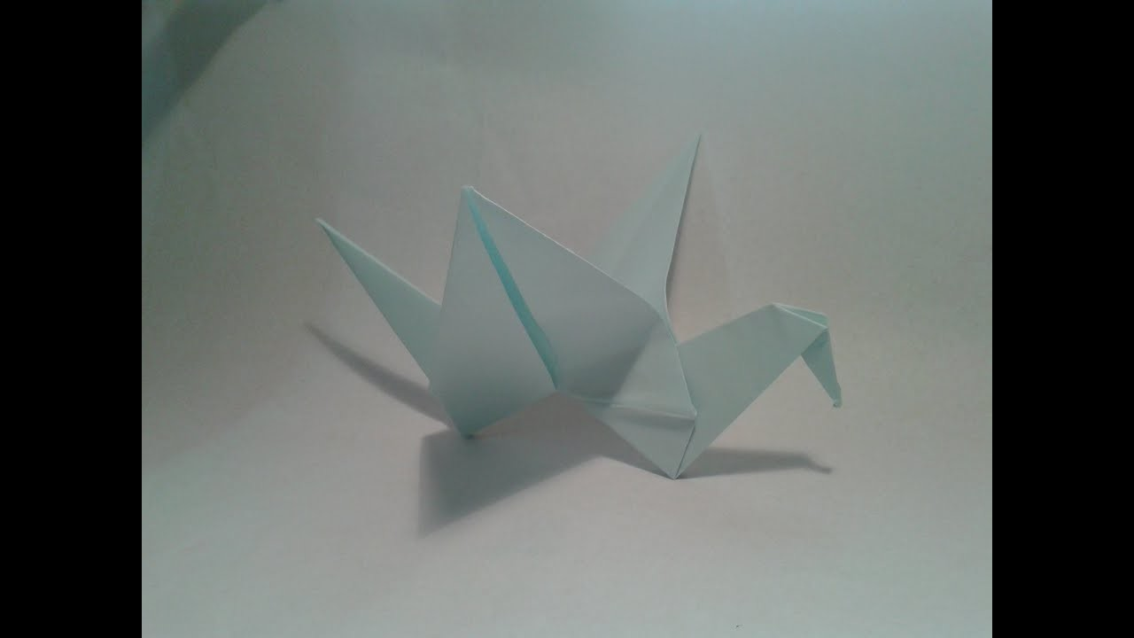 Origami - How to make an easy origami flapping bird