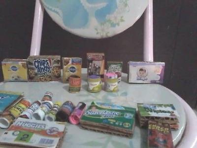 Pequeños productos para supermercado de muñecas