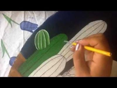 Pintura en tela Indigena # 1 con cony