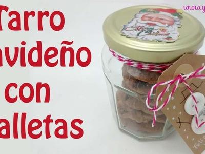 Tarro de galletas para regalar. Cookie jar gift.