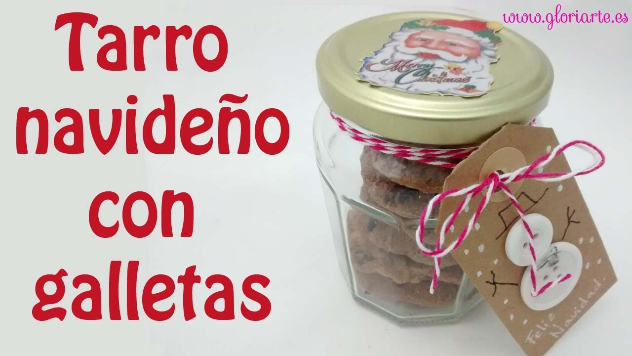 Tarro de galletas para regalar. Cookie jar gift.
