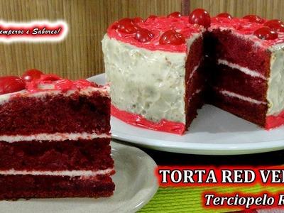 TORTA RED VELVET Terciopelo Rojo increiblemente fácil y deliciosa