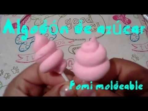 Tutorial Algodón de azúcar | fomi moldeable | porcelana fría | arcilla polimérica