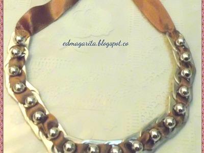 Tutorial: Collar-Gargantilla de Anillas de Aluminio