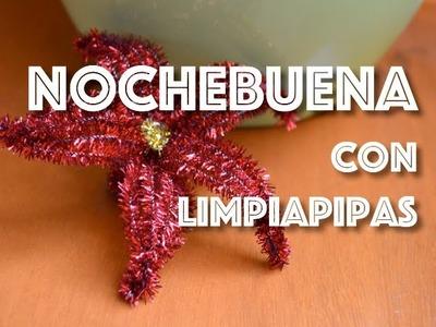 ADORNO NAVIDEÑO FÁCIL Y BONITO: Nochebuena con limpiapipas