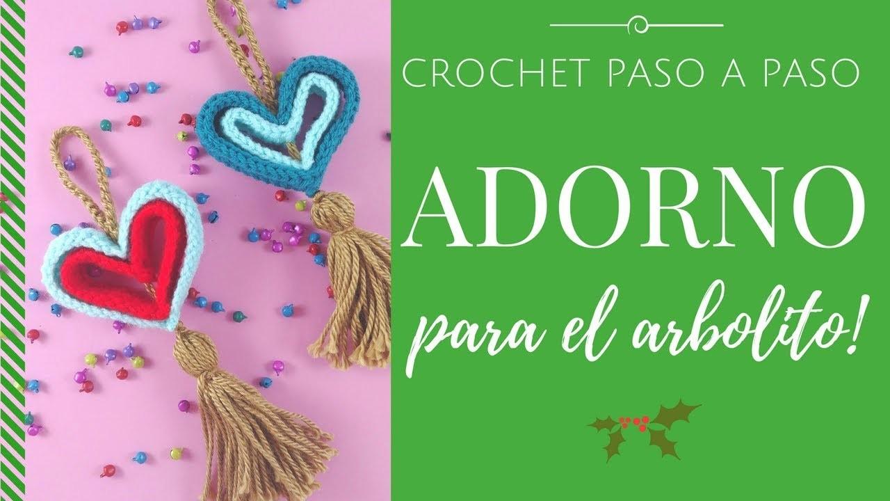 ADORNO PARA EL ARBOLITO EN CROCHET - Paso a Paso por mamaQuilla