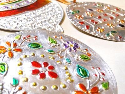 Adornos navideños con Repujado en aluminio - Fáciles
