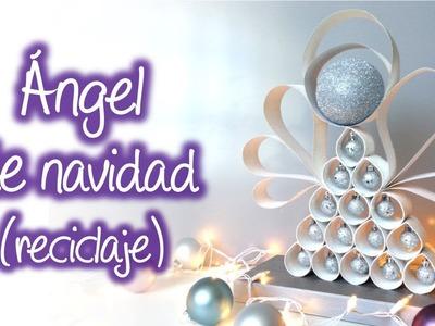 Angel de navidad  con material reciclado, Christmas angel with recycled material