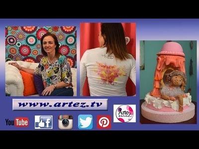 Artez TV programa 29 #Sublimación Textil #Torta desmontable