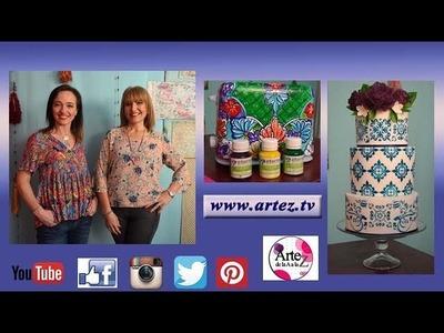 Artez TV programa 34 #Tostadora Talavera #Torta decorada con stencils y sellos
