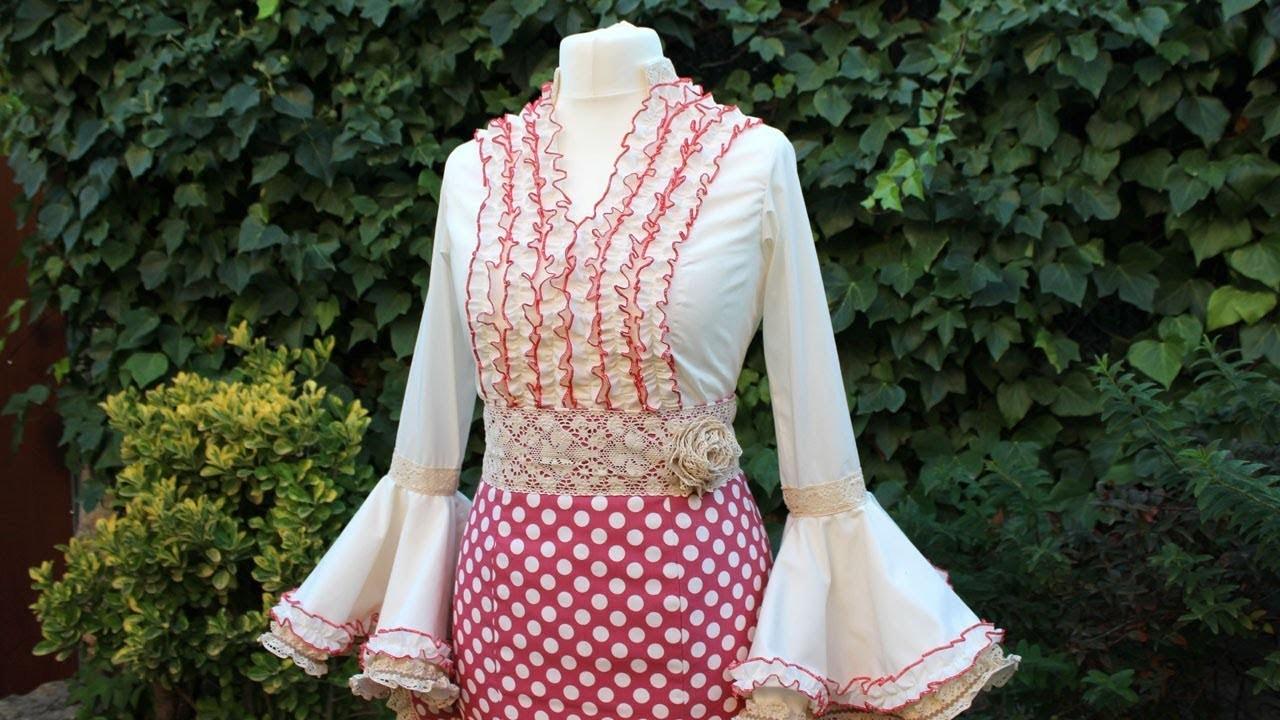 Blusa flamenca de mujer. Como hacer una blusa de mujer.