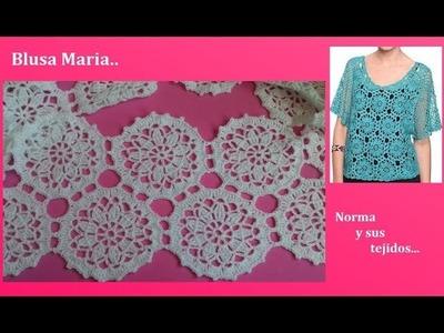 Blusa Maria a crochet