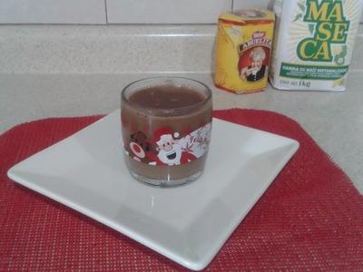 Champurrado de chocolate y masa