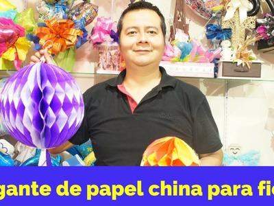 Colgante de papel china. colmena de papel. Fácil y rápido.Fiesta infantil