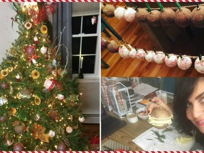 COMO DECORAR ARBOL DE NAVIDAD NATURAL PASO A PASO | RUSTIC GLAM ???? Christmas Tree