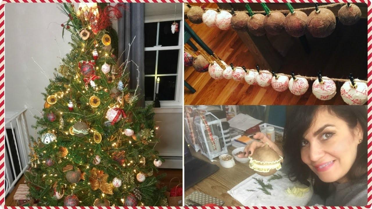 COMO DECORAR ARBOL DE NAVIDAD NATURAL PASO A PASO | RUSTIC GLAM ???? Christmas Tree