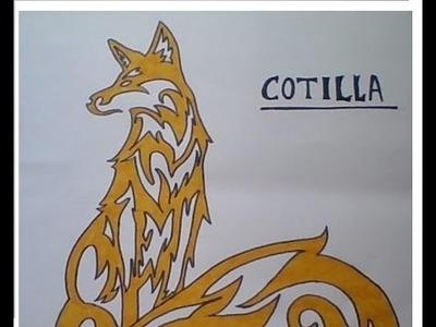 Como dibujar un zorro tribal  | How to draw a tribal fox