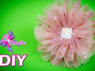 Como hacer flores: Flores de Tul #2 | Video# 69 | SDetalles | DIY