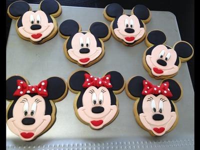 Como hacer galletas de Minnie y Michey
