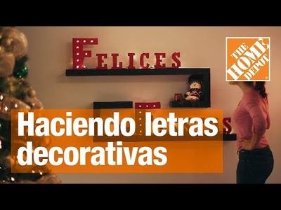 Cómo hacer letras decorativas para tu hogar