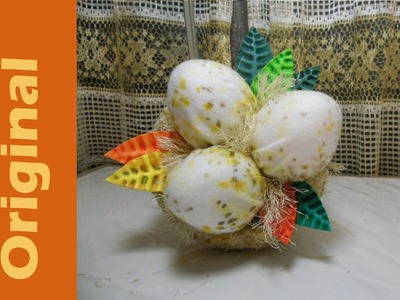 Como hacer un ALFILETERO NIDO How to Make a Nest shaped pincushion Tutorial Inerya viris