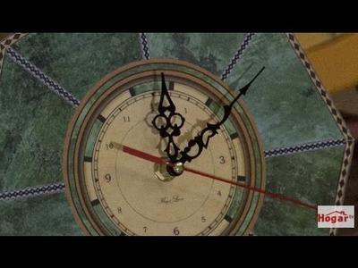 Como hacer un reloj en contracolado artistico - Hogar Tv  por Juan Gonzalo Angel
