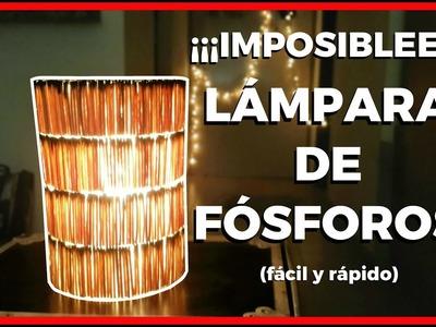 Cómo hacer una lámpara casera de fósforos | Pablo Inventos