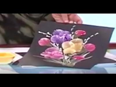 Como Pintar un Cuadro de Flores con Petalos en Tecnica Degrade - Hogar Tv  por Juan Gonzalo Angel
