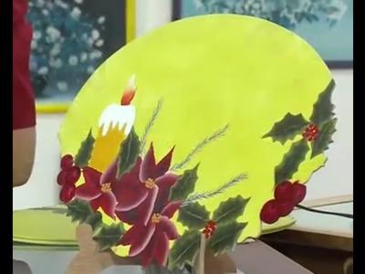 Como Pintar un Individual para Navidad- Hogar Tv  por Juan Gonzalo Angel