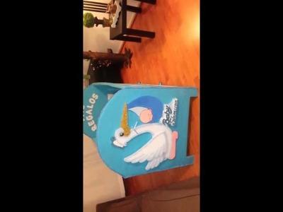 Cuna de cartón para beby shawer