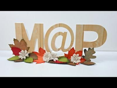 Decorando letras con motivos otoñales | Decoración
