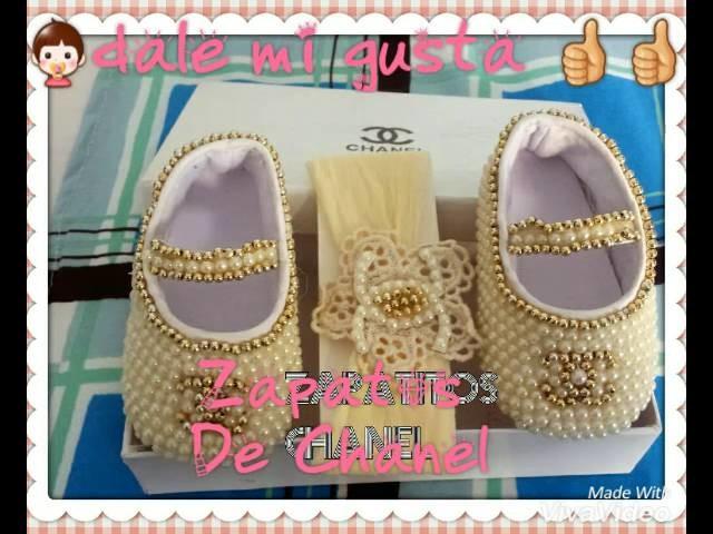 ????decorar zapatos de niña con debujo de Chanel ????????????