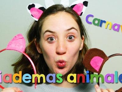 Diademas animales | Ideas Carnaval para niños | Sandrusqueta