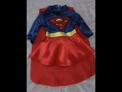 Disfraz de Superchica para Niña + patrones