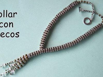 DIY - Collar de mostacillas con flecos.DIY - Beaded necklace with fringes.
