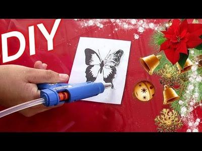 DIY.Mariposas Para El Arbol De Navidad Y Para Decorar Adornos De Navidad. hecha de silicona.