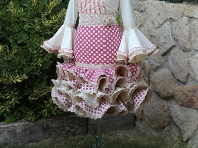 Falda flamenca corta de mujer. Como hacer una falda de mujer