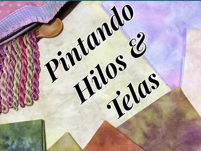 Flosstube en Español #2 Tutorial de Teñido de telas e hilos
