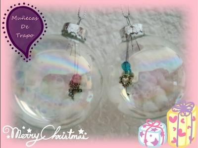 Idea para bola transparente navidad - Muñecas De Trapo