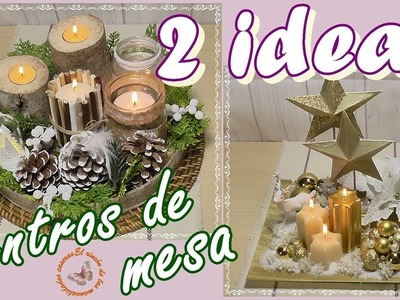 Ideas para navidad. 2 estilos de centros de mesa navideños
