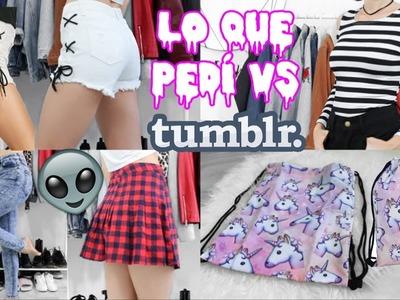 LO QUE PEDÍ VS LO QUE RECIBÍ: Haul ropa y accesorios Tumblr, ropa deportiva.  · Crisisbeauty