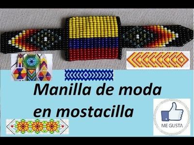 Manilla de moda en mostacilla