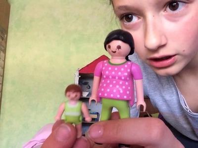 Mi casa de playmobil hecha de cartón