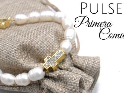 Pulsera para la Primera Comunion con Perlas cultivadas de agua dulce