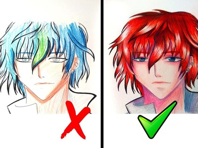 Que hacer y No hacer al Colorear rostros de Manga. Sencillos pasos