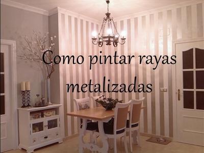 RAYAS METALIZADAS EN LA PARED !!